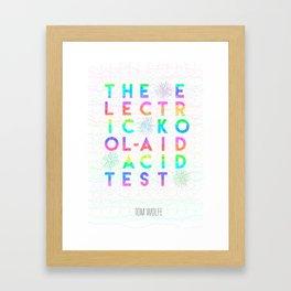 Electric Kool-Aid Acid  Test Framed Art Print