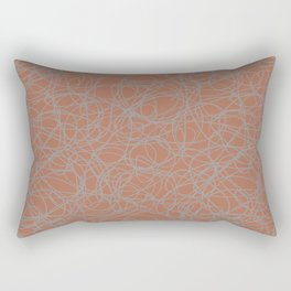 Slate Violet Gray SW9155 Thick Hand Drawn Scribble Mosaic Pattern on Cavern Clay SW 7701 Rectangular Pillow