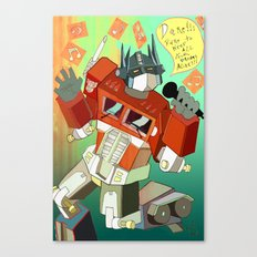 Optimus Prime DARE to keep your dreams alive! Canvas Print