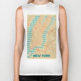 New York Map Retro Biker Tank