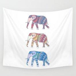Three Elephants Part II Wall Tapestry