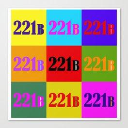 221B Color Block Canvas Print
