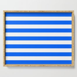 China Blue and White Medium Stripes Serving Tray