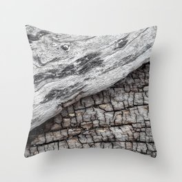 Old Wood - Photography by Fluid Nature Throw Pillow