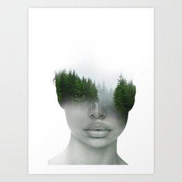 En el bosque Art Print
