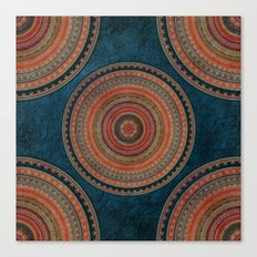 Earth Tone Colored Mandala Canvas Print