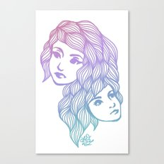 Two Heads are Better Than One Canvas Print