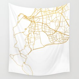 CAPE TOWN SOUTH AFRICA CITY STREET MAP ART Wall Tapestry