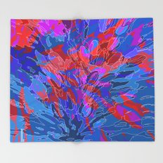 exploding coral Throw Blanket