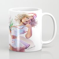 nurse Mugs featuring Sara the Nurse by Cris Delara