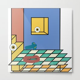 double-floored blue face room no. 3 Metal Print