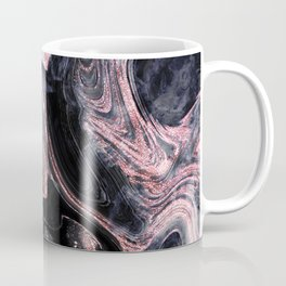 Stylish rose gold abstract marbleized design Coffee Mug