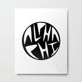 Aphi Graphic Circle  Metal Print