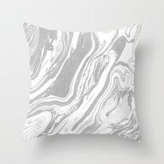 Marble - Grey Wash Throw Pillow