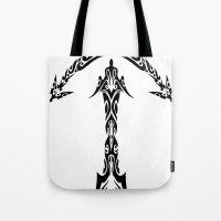 sagittarius Tote Bags featuring Sagittarius by Mario Sayavedra