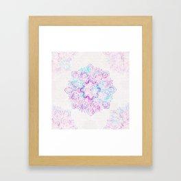 Winter Fiery Mandala Framed Art Print
