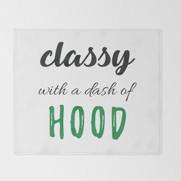 Classy & Hood Throw Blanket