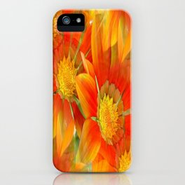 Seamless Vibrant Yellow Gazania Flower iPhone Case