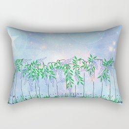 Wisteria on a fence Rectangular Pillow