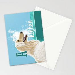 A is for Afghan Stationery Cards