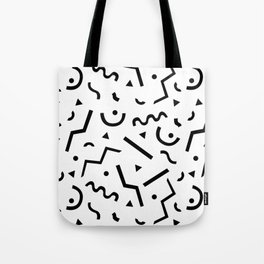 Memphis pattern Tote Bag