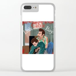 Little Cable Boy Clear iPhone Case