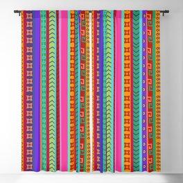 Ethnic Peruvian Motif Striped Pattern Blackout Curtain