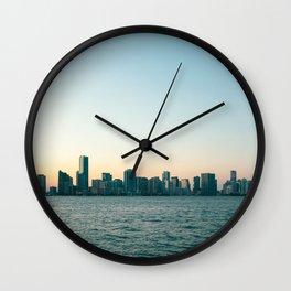 Miami Skyline Wall Clock