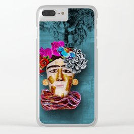 Frida and the Owl Clear iPhone Case