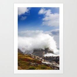 Wave crashing in Louisbourg Art Print