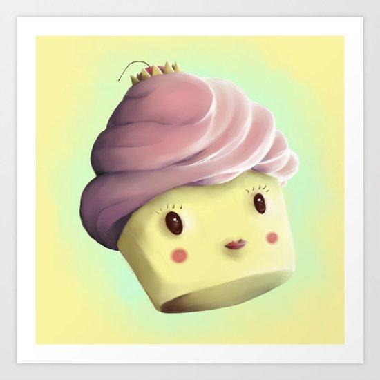 Princess Cupcake Art Print