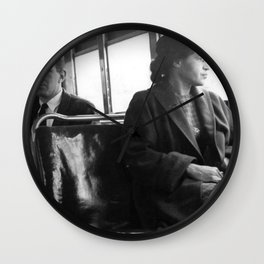 African American Portrait - If Rosa Parks Rode a Bus Today? Wall Clock