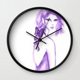 Fashion Illustration: Big Bow Wall Clock