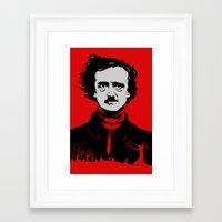 poe Framed Art Prints featuring POE by Eric Thorpe-Moscon Designs
