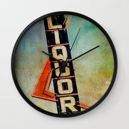 Vintage Liquor Sign Wall Clock