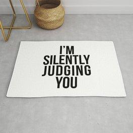 I'M SILENTLY JUDGING YOU Rug
