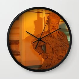 guard of light Statue Wall Clock