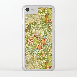 William Morris Golden Lily Vintage Pre-Raphaelite Floral Clear iPhone Case