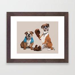 Raging (Colour) Framed Art Print