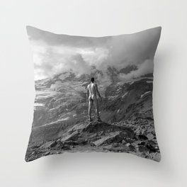 Awesome Nature Nude Hike Throw Pillow
