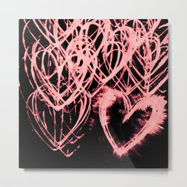 Repetitive Heart (edit 1) Metal Print