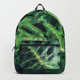 Geometric Green Leaves Backpack