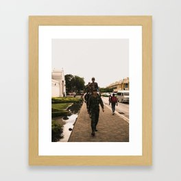 patrolling the grand palace Framed Art Print