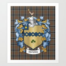 Thompson Crest and Tartan Art Print
