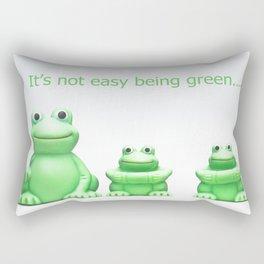 Its not easy being green Rectangular Pillow