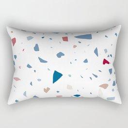 Terrazzo - White Multicolored Rectangular Pillow