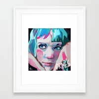 grimes Framed Art Prints featuring Grimes by Tiffany Baxter