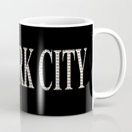 New York City (type in type on black) Coffee Mug