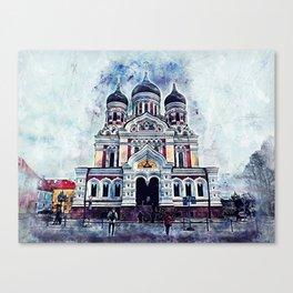 Alexander Nevsky Cathedral Tallinn Canvas Print