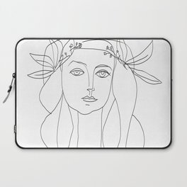 Picasso Line Art - Woman's Head Laptop Sleeve